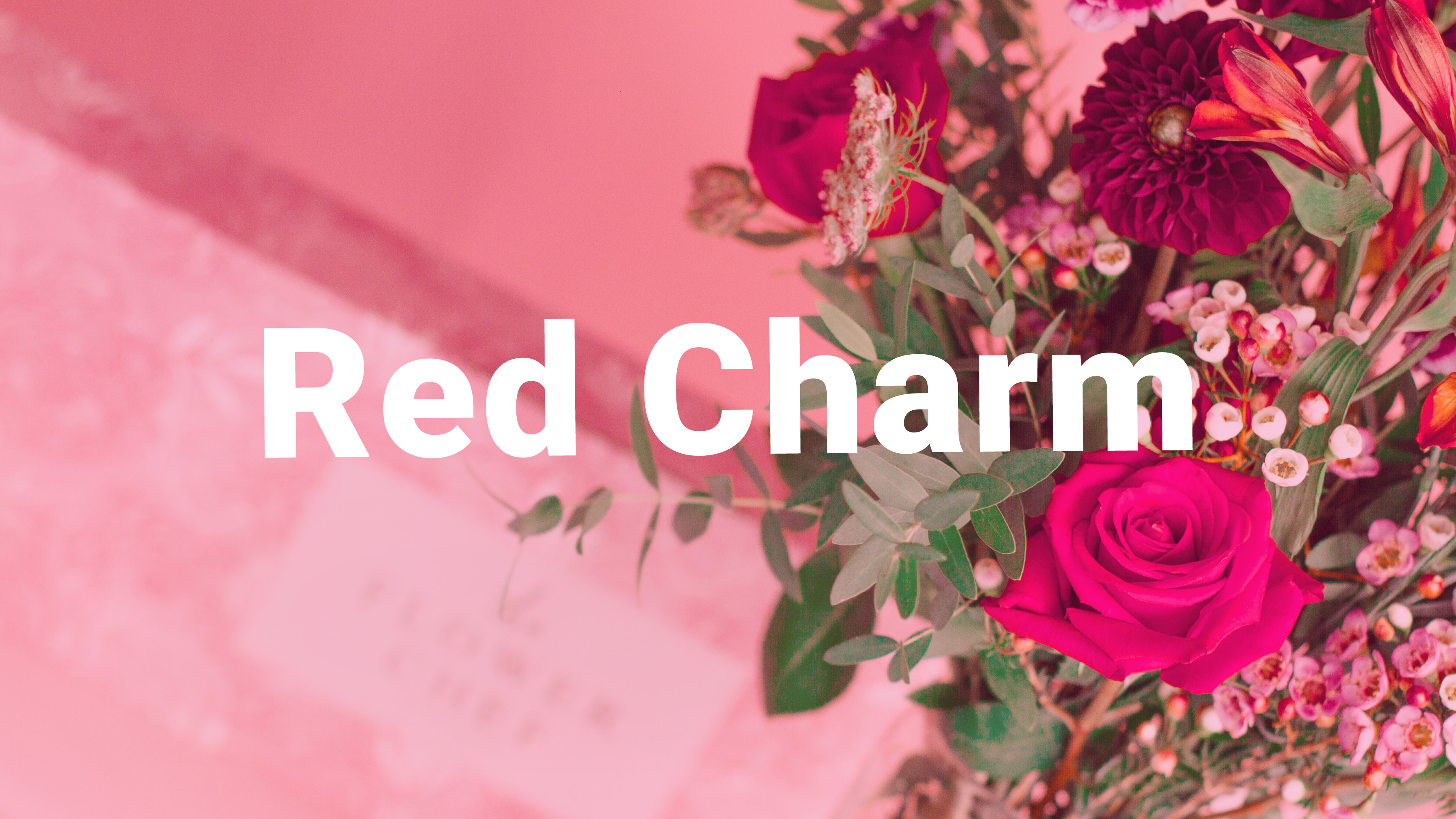 Kytice Red Charm